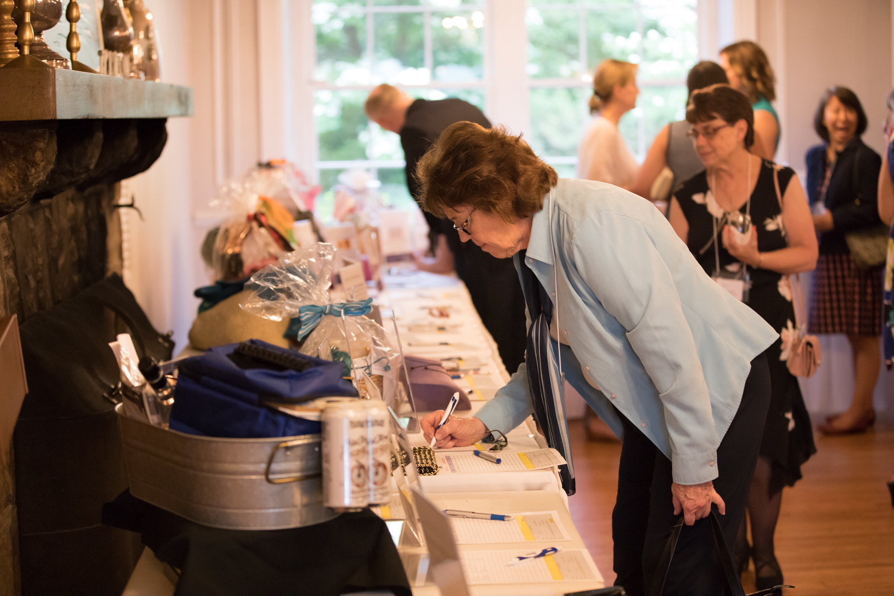 Guests had the opportunity to bid on more than 40 items in the silent auction.